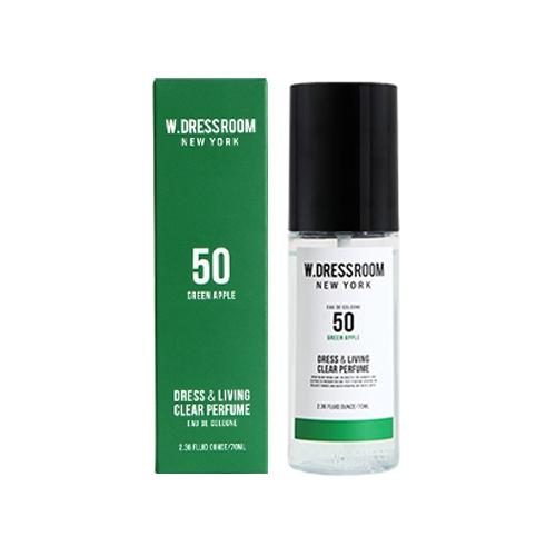 Парфюмированная вода для одежды и белья с ароматом зеленого яблока W.Dressroom Dress & Living Clear Perfume No.50 Green Apple 70ml 1 - Фото 2