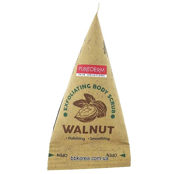 Скраб для очищения чувствительной кожи с ореховой пудрой Exfoliating Body Scrub WALNUT PUREDERM 20ml 0 - Фото 1