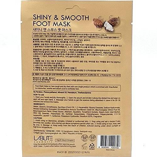 Маска - Носочки Смягчающая Питательная Labute Shiny & Smooth Foot Mask 16g 1 - Фото 2