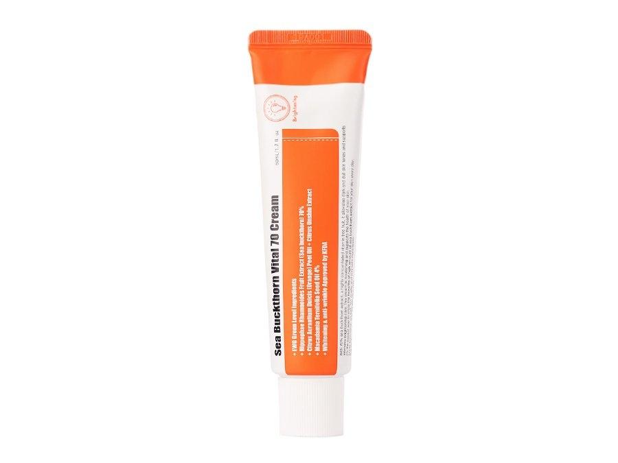 Крем витаминный для сияния и восстановления кожи на основе экстракта облепихи PURITO Sea Buckthorn Vital 70 Cream 50ml 0 - Фото 1