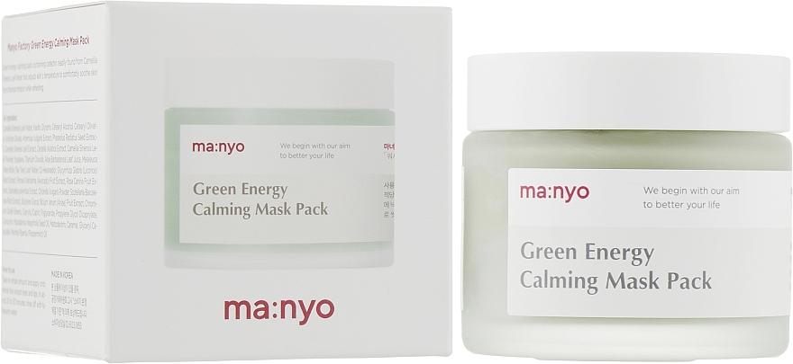 Маска успокаивающая с экстрактом зеленого чая и полыни Manyo Factory Green Energy Calming Mask Pack 75ml 0 - Фото 1