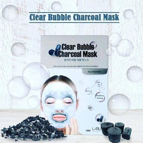 Очищающая Маска Кислородная C Древесным Углем LABUTE Clear Bubble Charcoal Mask