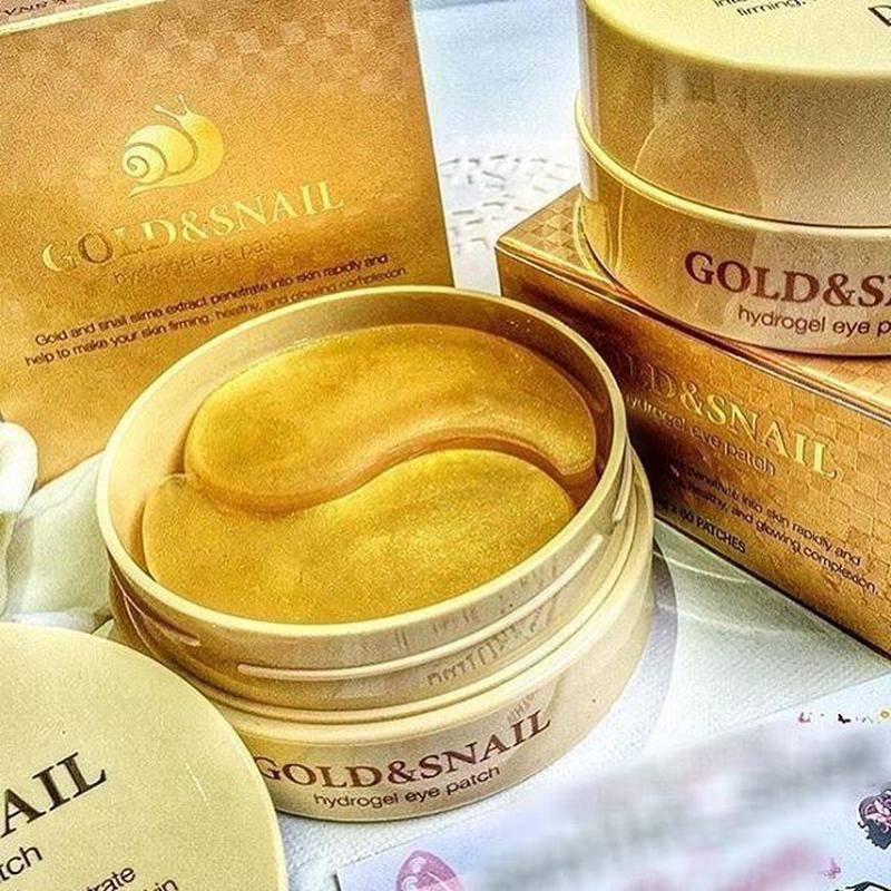 Набор Патчей Petitfee Gold & Snail Hydrogel Eye Patch С Коллоидным Золотом И Улиточным Муцином 0