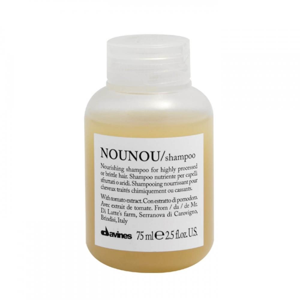 Питательный шампунь для уплотнения ломких и поврежденных волос с экстрактом помидора Davines Nourishing Nounou Shampoo With Tomato Extract 75ml 0 - Фото 1