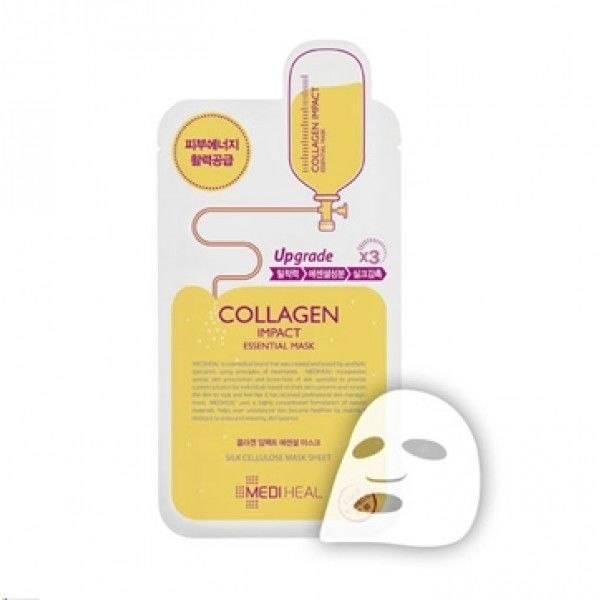 Маска Профессиональная Омолаживающая Восстанавливающая С Морским Коллагеном Mediheal Collagen Impact Essential Mask 0 - Фото 1