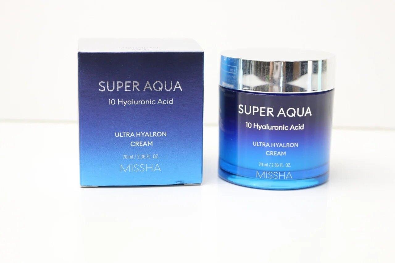 Крем Cупер Увлажняющий С Гиалуроновой Кислотой Missha Super Aqua Ultra Hyalron Cream 70ml 0 - Фото 1