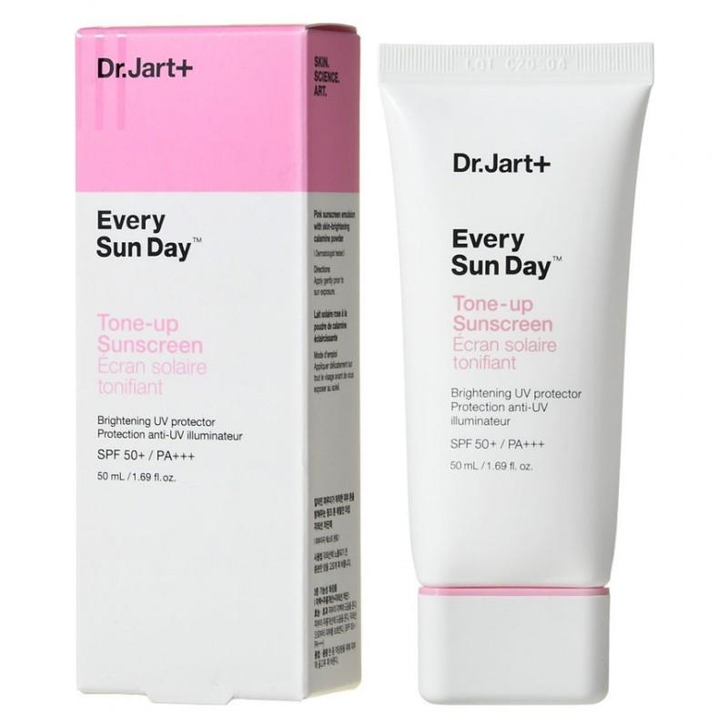 Солнцезащитный крем осветляющий с ниацинамидом Dr. Jart+ Every Sun Day Tone-Up Sunscreen SPF50+ PA+++ 50ml 0 - Фото 1
