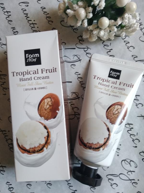 Крем для рук увлажняющий с экстрактом кокоса и маслом ши FarmStay Tropical Fruit Hand Cream Coconut & Shea Butter 50ml 1 - Фото 2