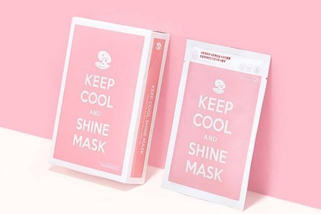 Маска Для Укрепления И Сияния Кожи С Жемчужной Пудрой И Нефритом Keep Cool Shine Intensive Brightening Mask