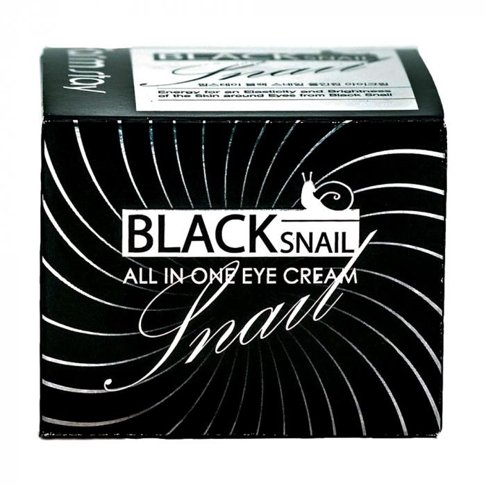 Крем для лица восстанавливающий антивозрастной с муцином черной улитки FarmStay All-In-One Black Snail Eye Cream 100ml 2 - Фото 2