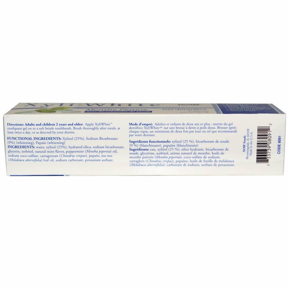 Органическая Отбеливающая Зубная Паста Мята Перечная Platinum Mint Now Solutions, Xyli-White 181мл 0