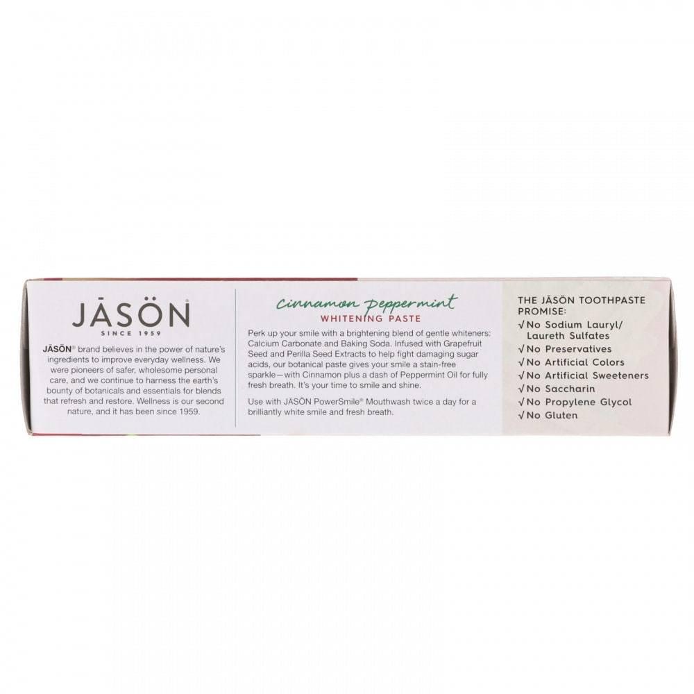 Органическая Отбеливающая Зубная Паста С Перечной Мятой Jason Natural PowerSmile 170мл