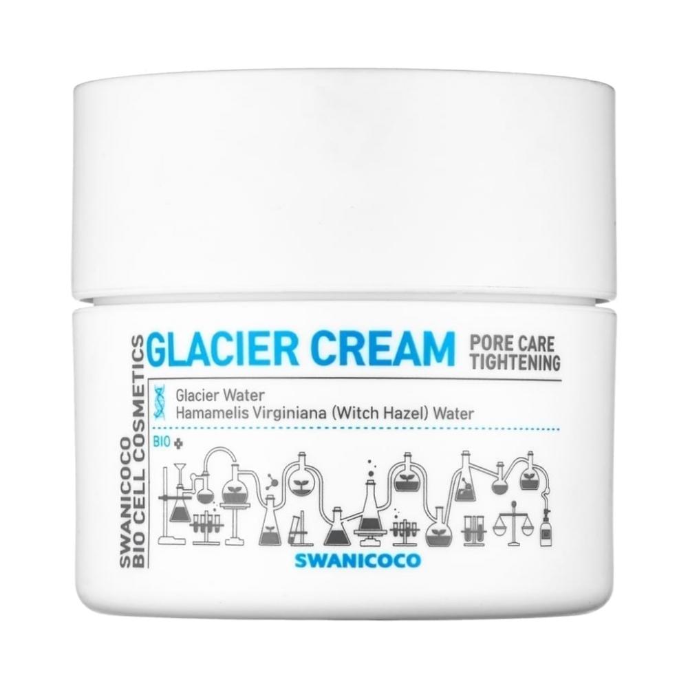 Крем Для Сужения Пор Осветляющий С Ксилитом Swanicoco Pore Care Tightening Glacier Cream 50ml 1 - Фото 2