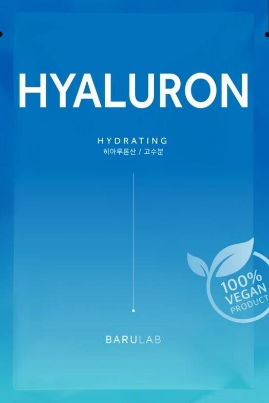 Увлажняющая тканевая маска с гиалуроновой кислотой Barulab The Clean Vegan Hyaluron Mask 23g 2 - Фото 2
