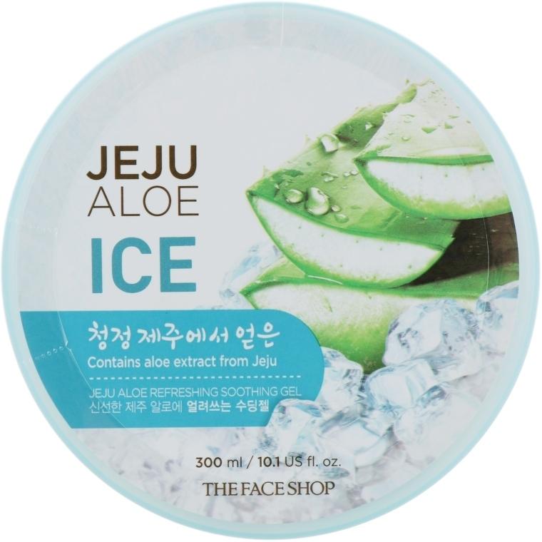 Гель освежающий с алоэ для лица и тела The Face Shop Jeju Aloe Refreshing Soothing Gel 300ml (ICE)) 0 - Фото 1