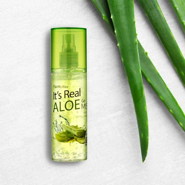 Мист увлажняющий с экстрактом алоэ Farmstay It'S Real Aloe Gel Mist 120ml 0 - Фото 1