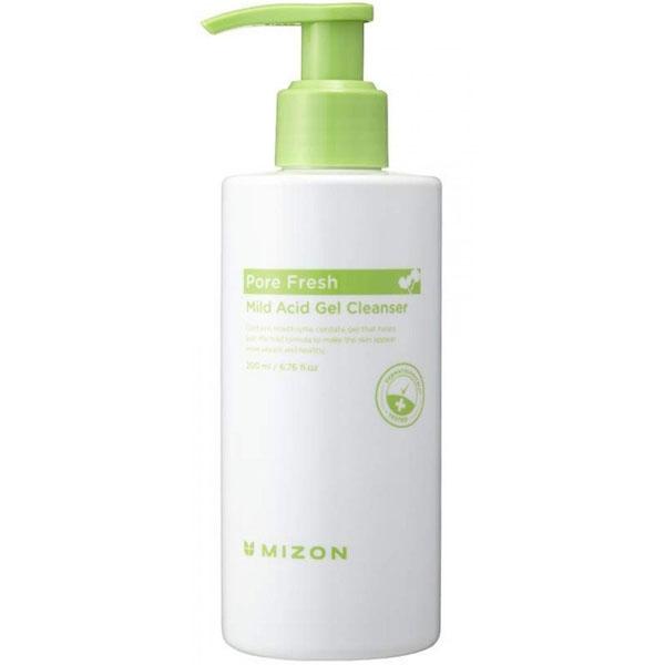 Гель для эффективного умывания успокаивающий с розмарином Mizon Pore Fresh Mild Acid Gel Cleanser 200ml 3 - Фото 3