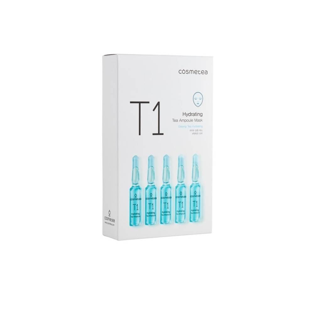Увлажняющая тканевая маска с экстрактом чая улун Cosmetea T1 Hydrating Tea Ampoule Mask 25ml 2 - Фото 2