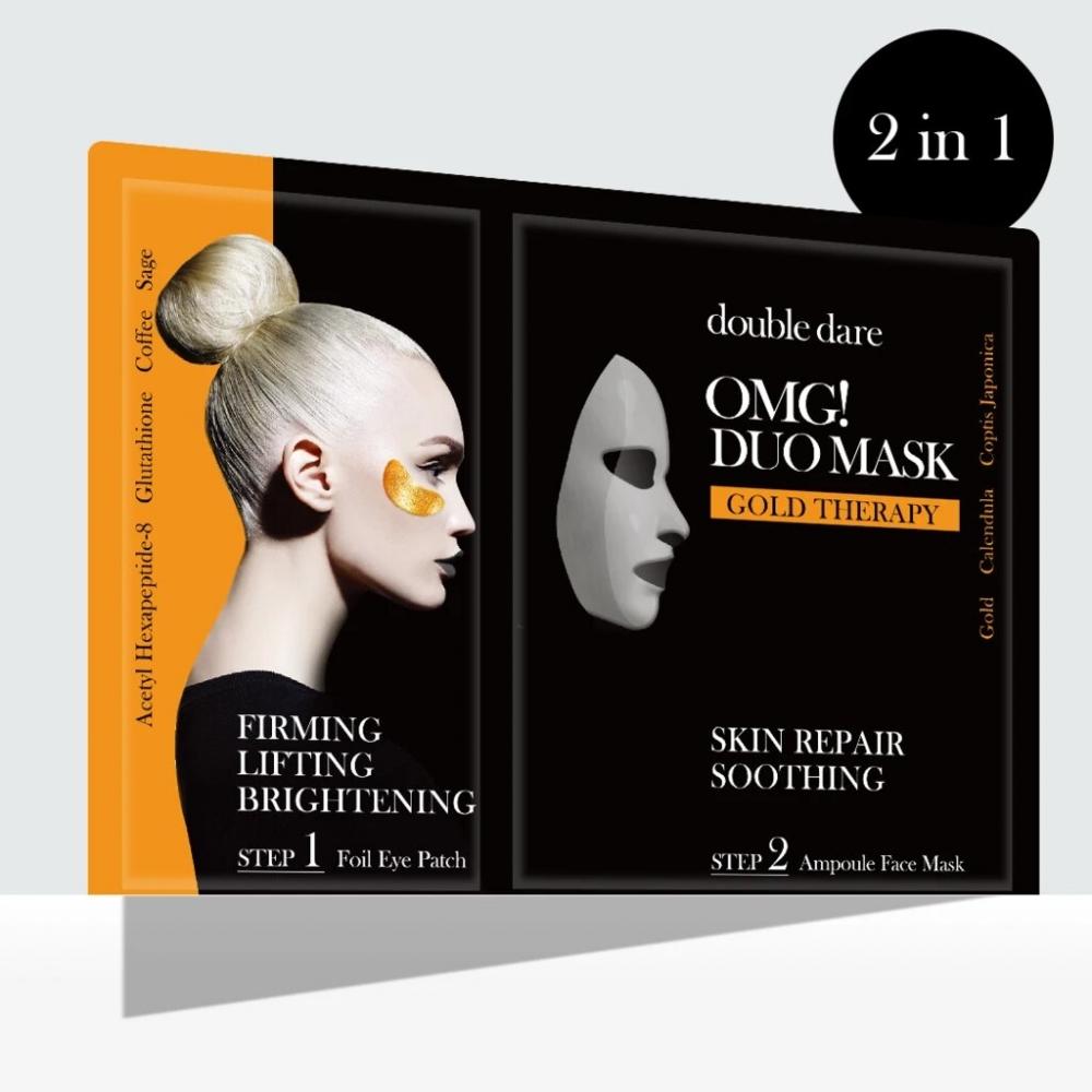 Комплекс из маски и патчей с золотом Double Dare OMG! Duo Mask Gold Therapy 29 ml 0 - Фото 1