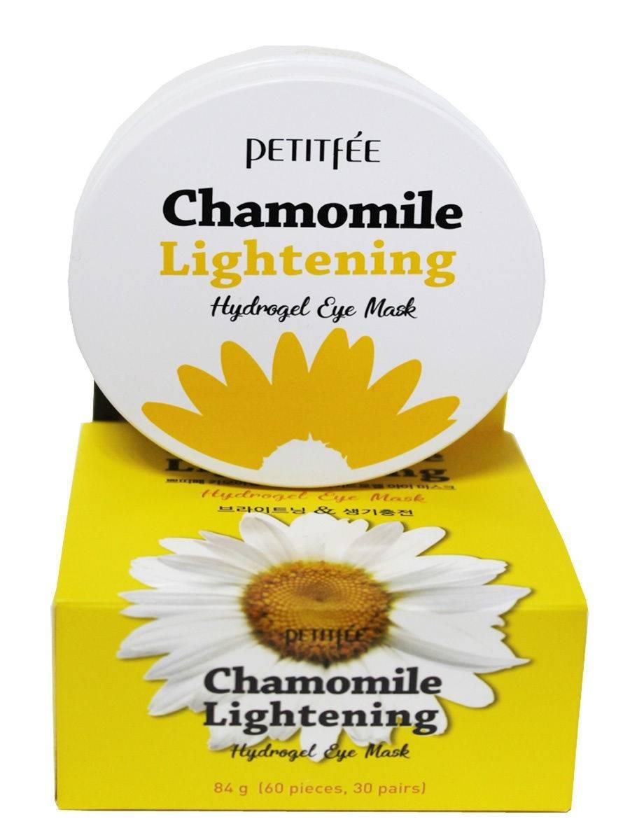 Патчи Увлажняющие Тонизирующие Дерму С Экстрактом Ромашки Petitfee Chamomile Lightening Hydrogel Eye Patch