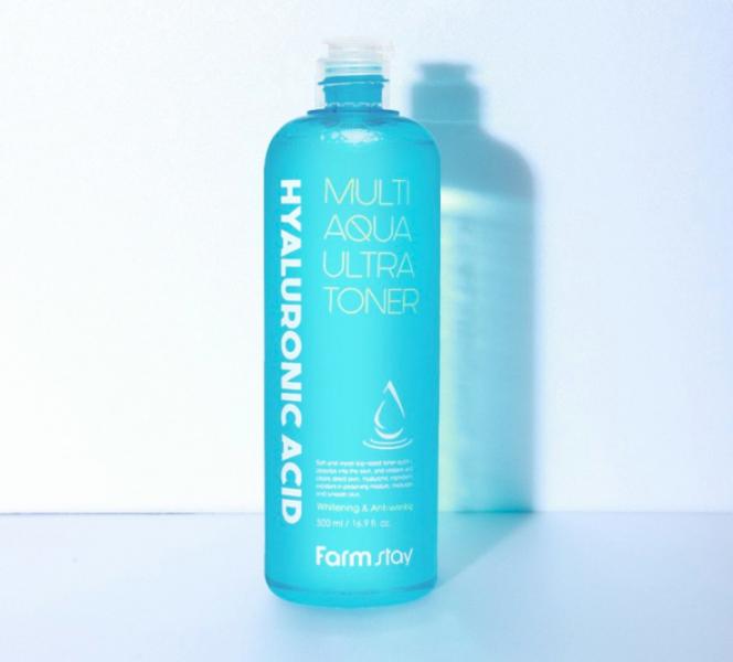 Тонер для лица супер увлажняющий с гиалуроновой кислотой FarmStay Hyaluronic Acid Multi Aqua Ultra Toner 500ml 0 - Фото 1