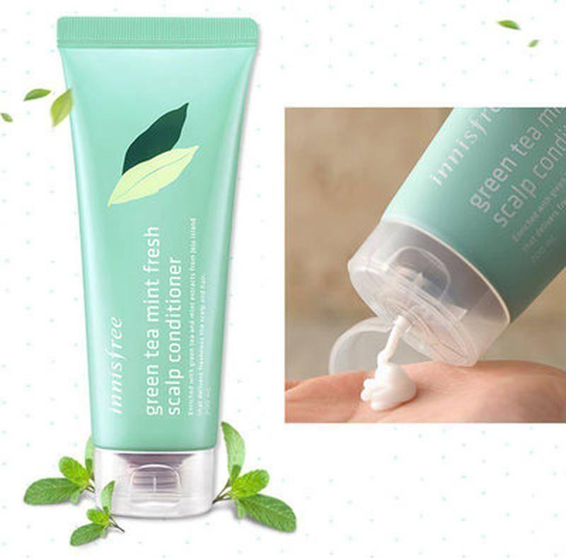 Кондиционер для волос освежающий с экстрактом зеленого чая Innisfree Green Tea Mint Fresh Scalp Conditioner 200ml  2 - Фото 2