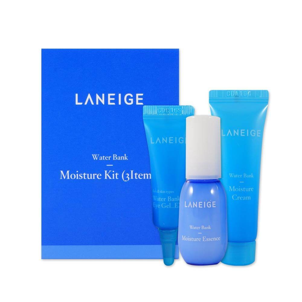 Набор: эссенция, крем для лица и крем-гель для век увлажняющий с морской водой  Laneige Water Bank Moisture 3 Kit 23ml 0 - Фото 1