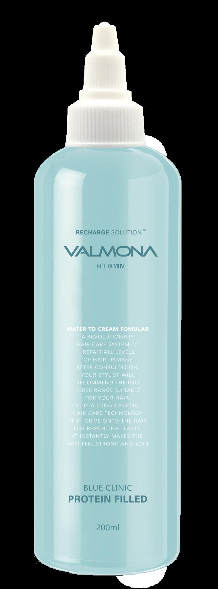 Маска для волос увлажняющая Evas Valmona Blue Clinic Protein Filled 200ml 2 - Фото 2
