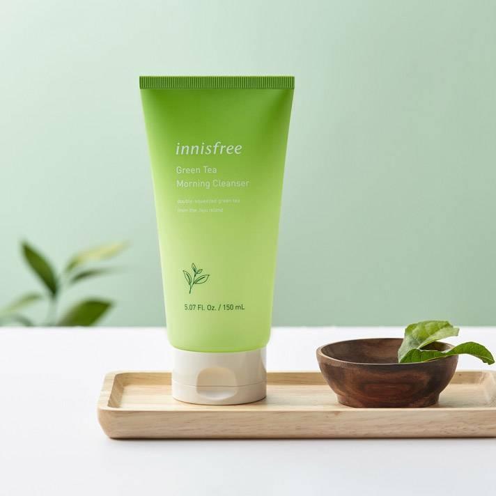 Гель для умывания успокаивающий с экстрактом зеленого чая Innisfree Green Tea Morning Cleanser 150ml 1 - Фото 2