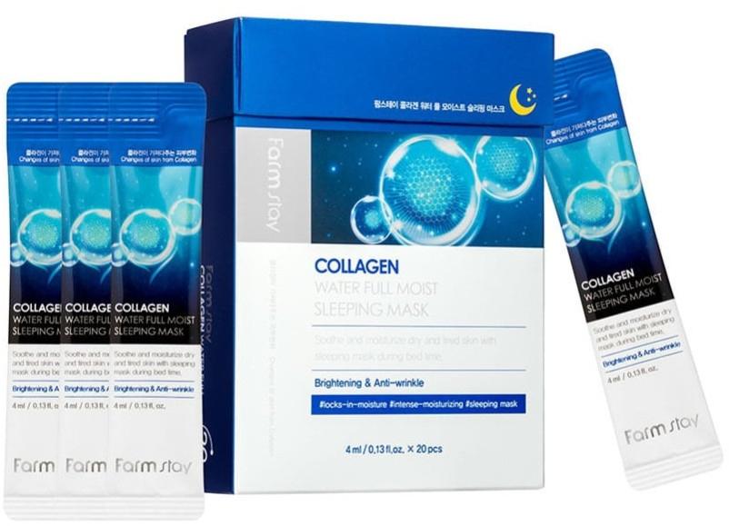 Маска ночная увлажняющая для лица с коллагеном FarmStay Collagen Water Full Moist Sleeping Mask 4ml 2 - Фото 2