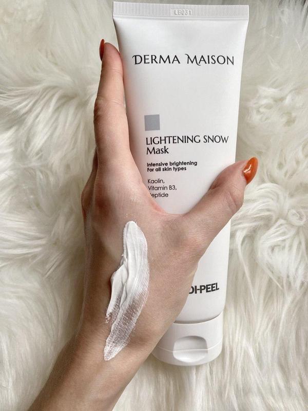 Маска глиняная для выравнивания и осветления тона лица MEDI-PEEL Derma Maison Lightening Snow Mask 250ml 3 - Фото 4