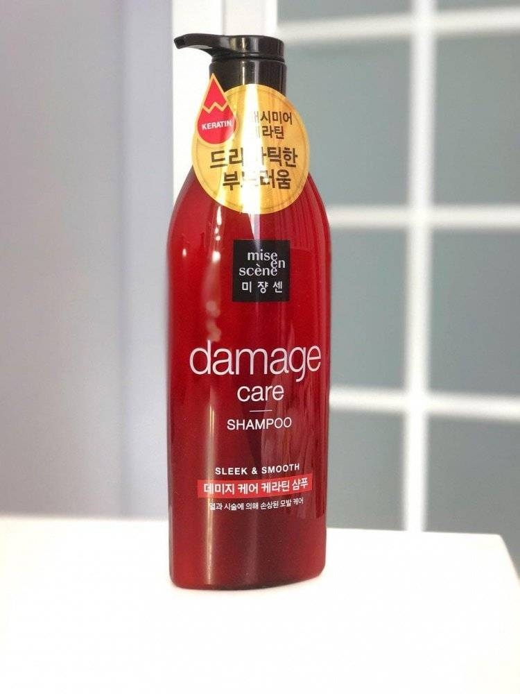 Шампунь Восстанавливающий Mise En Scene DAMAGE CARE Sleek&Smooth Shampoo 680ml