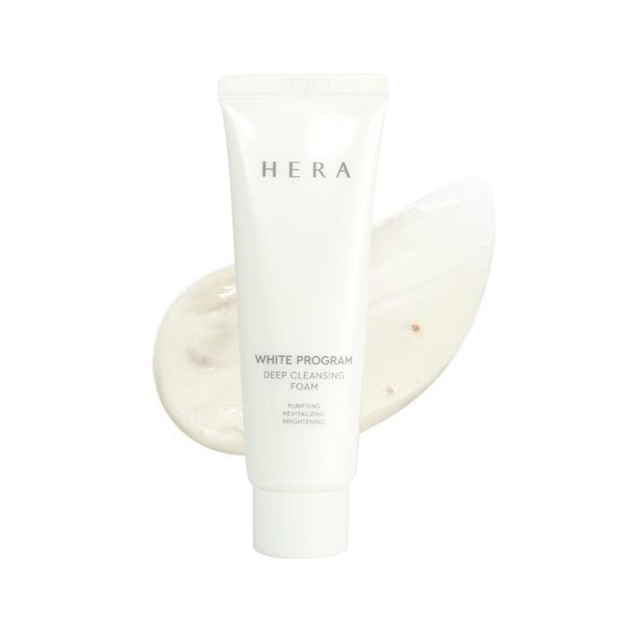 Люксовая пенка для умывания осветляющая с папаином Hera White Program Deep Cleansing Foam 50ml 0 - Фото 1