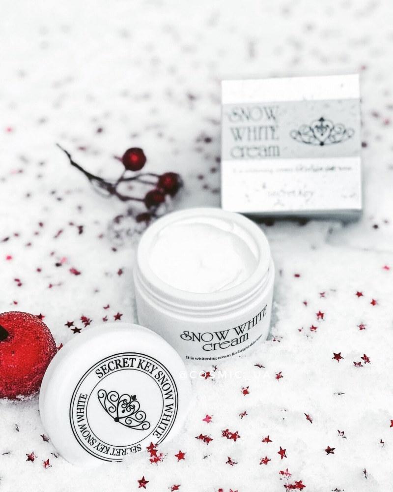 Крем Увлажняющий Выравнивающий Тон Secret Key Snow White Cream 50g 1 - Фото 2