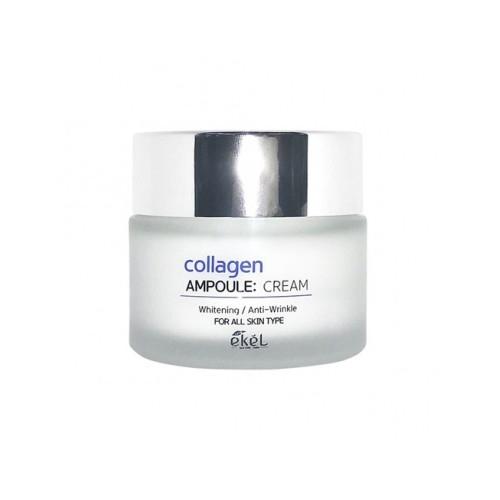 Крем ампульный для лица интенсивного увлажняющего действия с коллагеном Ekel Collagen Ampoule Cream 50ml 0 - Фото 1