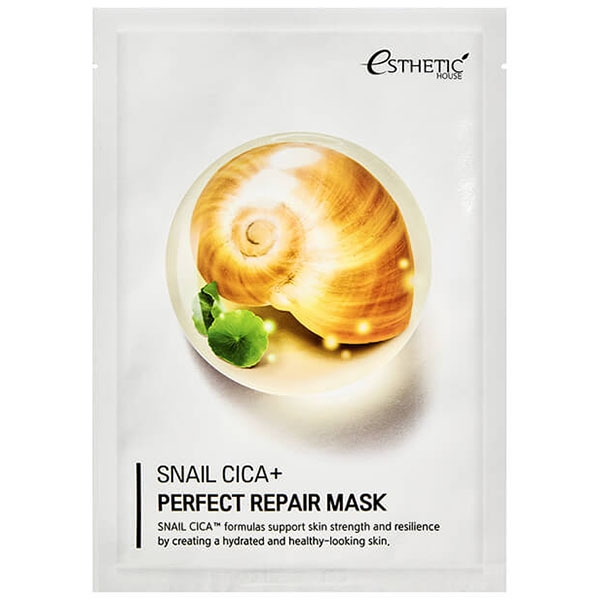 Тканевая маска с улиточным муцином и экстрактом центеллы Esthetic House Snail Cica+Perfect Repair Mask 25ml 0 - Фото 1