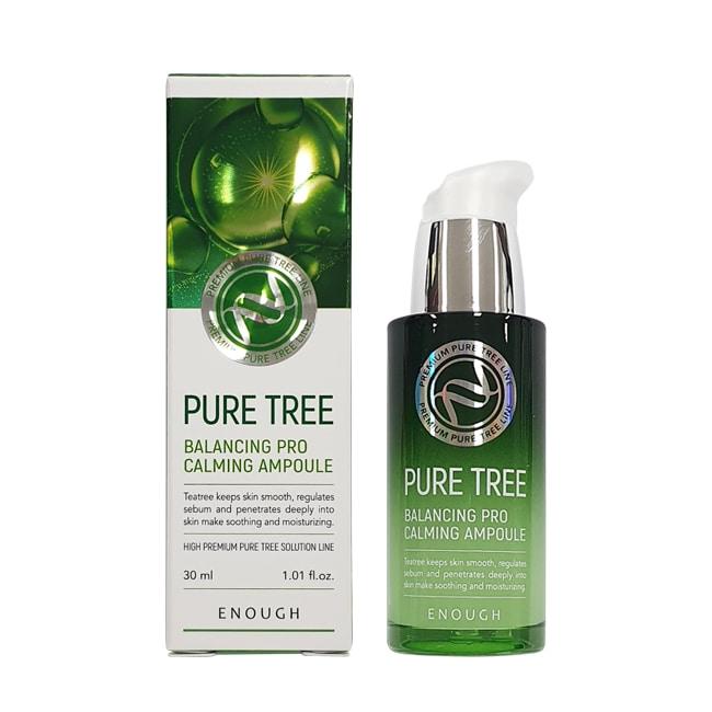 Успокаивающая сыворотка с экстрактом чайного дерева Enough Pure Tree Balancing Pro Calming Ampoule 30ml 0 - Фото 1