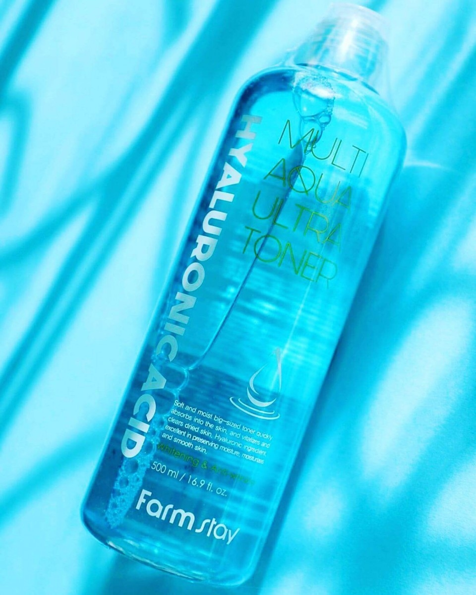 Тонер для лица супер увлажняющий с гиалуроновой кислотой FarmStay Hyaluronic Acid Multi Aqua Ultra Toner 500ml 1 - Фото 2
