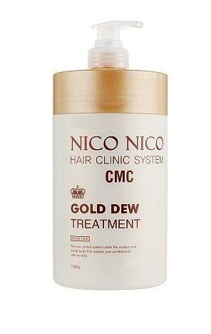 Восстанавливающая маска с компонентами золота для волос AOMI NICO NICO Gold Dew Treatment 1000ml 0 - Фото 1