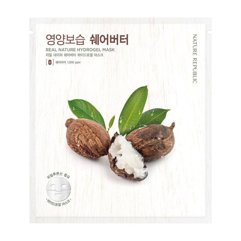 Гидрогелевая Маска С Маслом Ши Nature Republic Real Nature Shea Butter Hydro Gel Mask 22g
