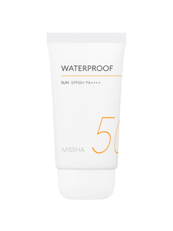 Солнцезащитный крем для тела водостойкий с кокосовым маслом Missha Waterproof Sun SPF50+/PA++++ 50ml 0 - Фото 1