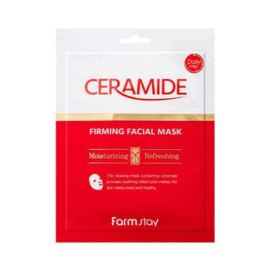 Маска тканевая укрепляющая для лица с керамидами FarmStay Ceramide Firming Facial Mask 27ml 0 - Фото 1