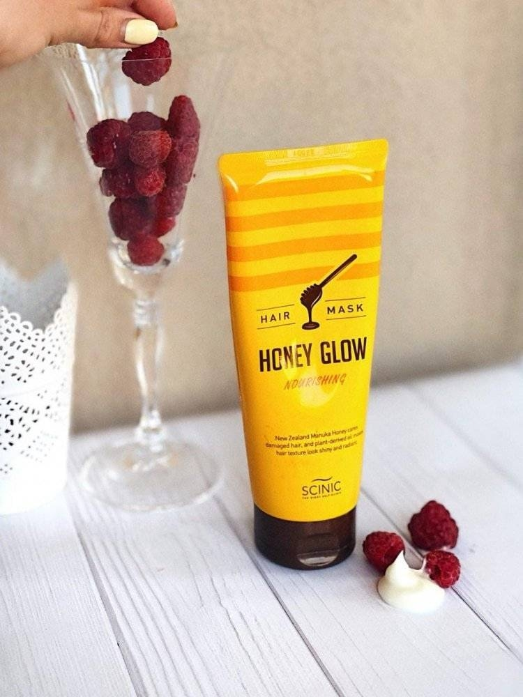 Маска Для Волос С Медом Восстанавливающая SCINIC HONEY GLOW HAIR MASK