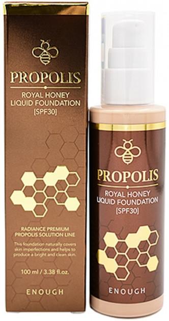Тональный крем для лица питательный с прополисом Enough Propolis Royal Honey Liquid Foundation SPF30 100ml
