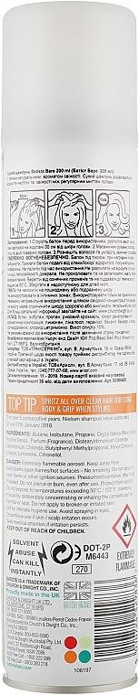 Шампунь сухой бессульфатный для волос Batiste Dry Shampoo Natural & Light Bare 200ml  2 - Фото 2
