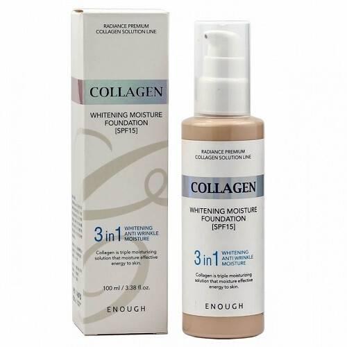 Тональный Крем Осветляющий С Коллагеном  Enough Collagen Whitening Moisture Foundation 3 in 1 SPF 15 100ml