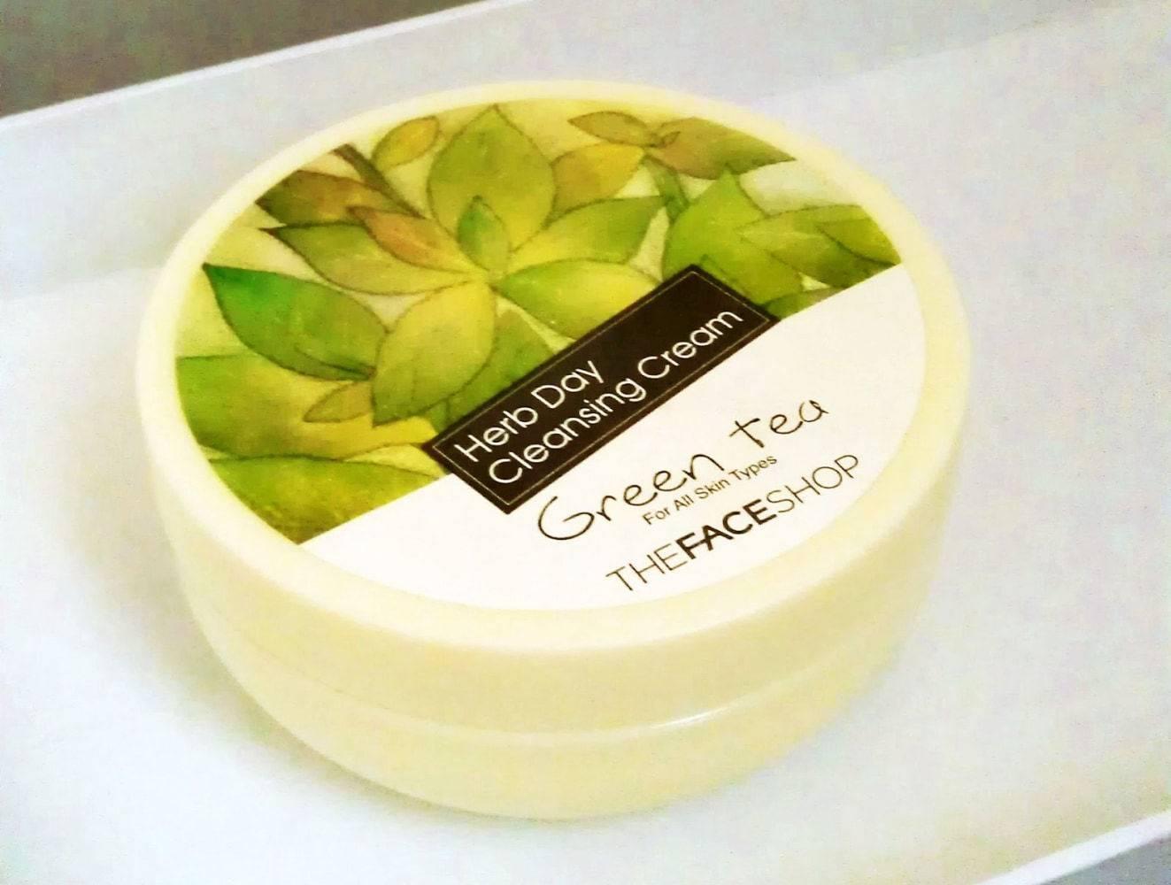 Очищающий Крем С Экстрактом Зеленого Чая The Face Shop Herb Day Cleansing Cream Green Tea 150ml  0