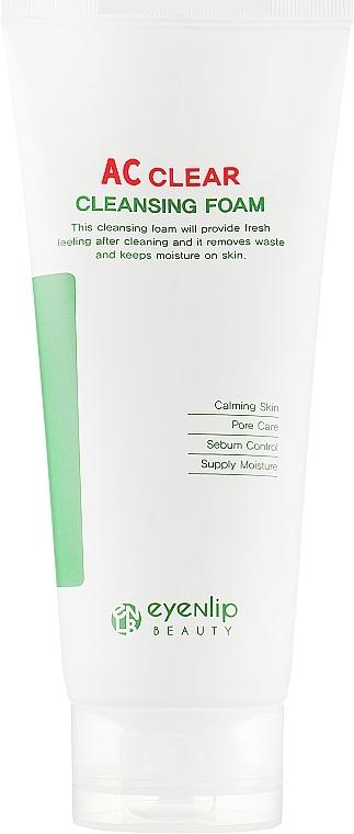 Пенка увлажняющая для умывания для проблемной кожи лица Eyenlip AC Clear Cleansing Foam 150ml 2 - Фото 2