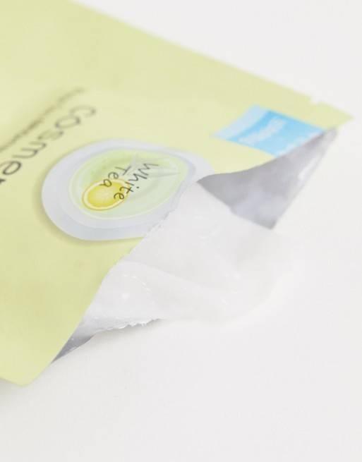 Осветляющая тканевая маска с экстрактом белого чая и лимона Cosmetea White Tea Brightening Moisture Mask 30ml 1 - Фото 2