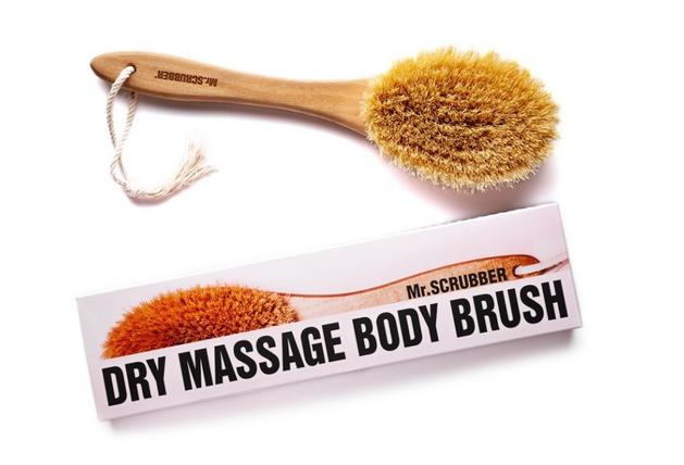 Щетка для сухого массажа с ручкой для тела Mr.Scrubber Love Your Skin 0 - Фото 1